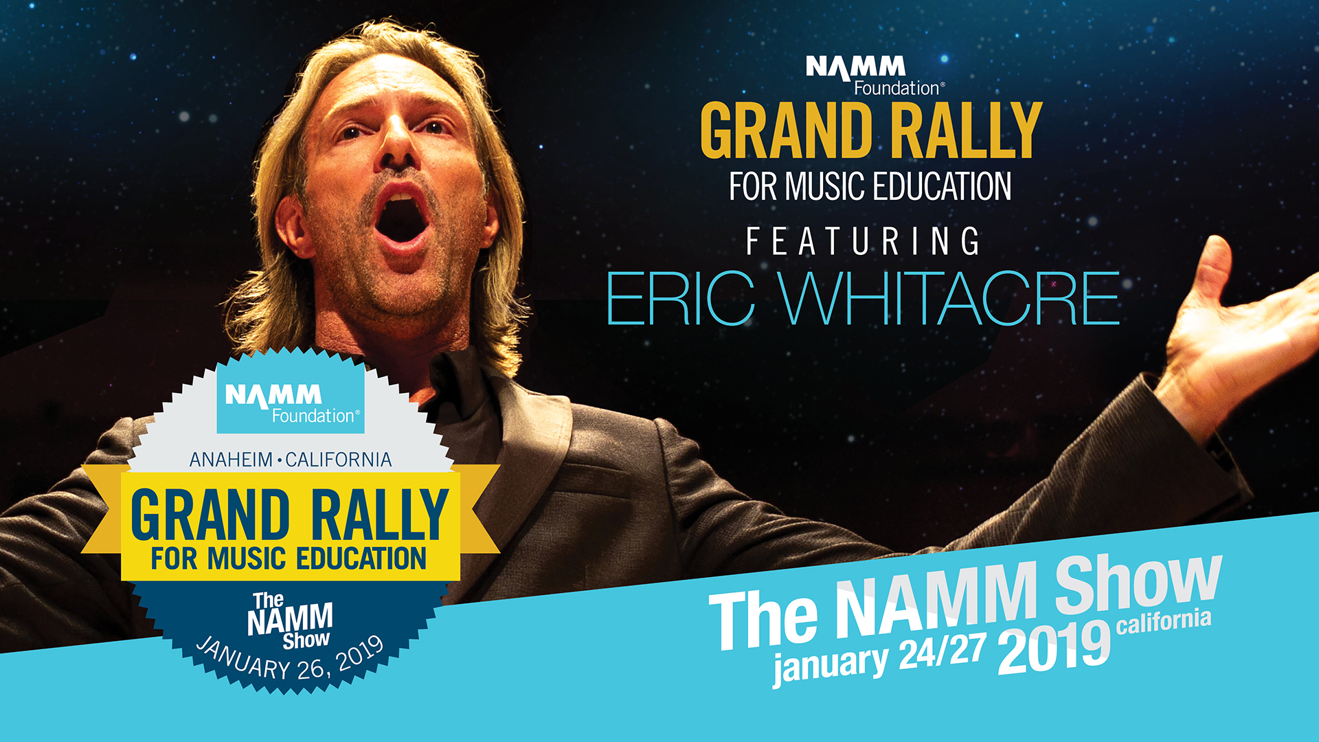 The Grand Rally for Music Education at The 2019 NAMM Show