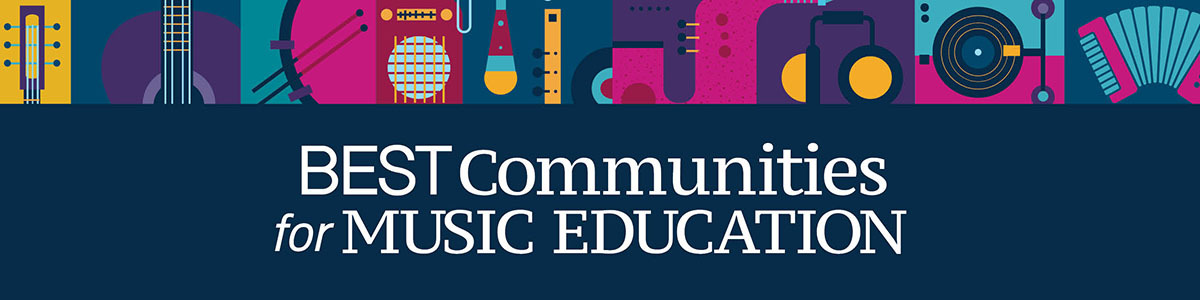 Best Communities for Music Education program website banner